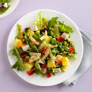 Veggie-Sesame Chicken Salad Recipe