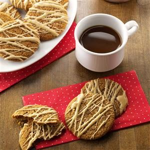 Coffee-Glazed Molasses Cookies Recipe