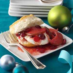 Cranberry-Pear Compote Shortcake Recipe