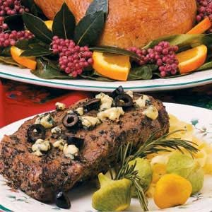 Greek-Style Rib Eye Steaks