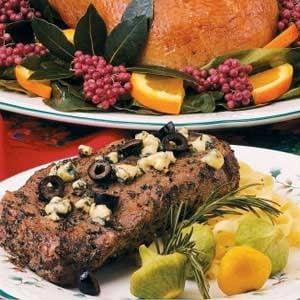 Greek-Style Ribeye Steaks Recipe