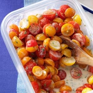 Tomatoes with Buttermilk Vinaigrette Recipe