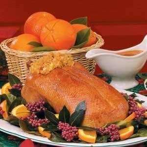 Roast Duck with Orange Glaze Recipe