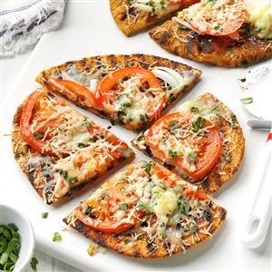 Grilled Garden Veggie Flatbreads Recipe