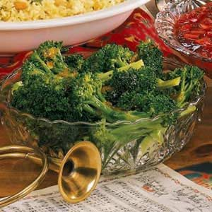 Broccoli with Ginger-Orange Butter Recipe