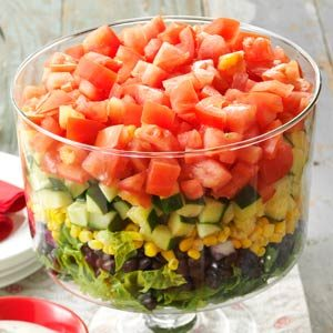 Layered Garden Bean Salad Recipe