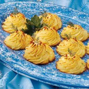 Dilled Duchess Potatoes Recipe