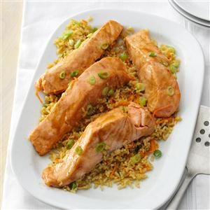 Ginger Salmon with Brown Rice Recipe
