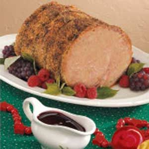 Roast Pork with Raspberry Sauce Recipe