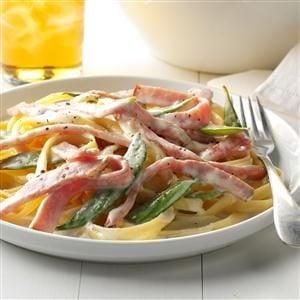 Ham and Pea Pasta Alfredo Recipe