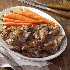 Slow-Cooked Coffee Pot Roast Recipe photo by Taste of Home