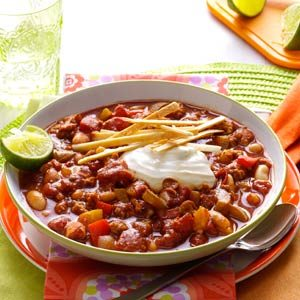 Slow Cooker Lime Chicken Chili