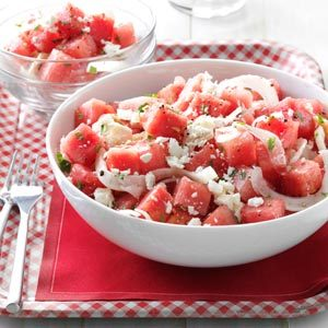 Minty Watermelon Salad Recipe