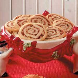 Strawberry-Nut Pinwheel Cookies Recipe