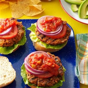 Black Bean Chip & Dip Burgers