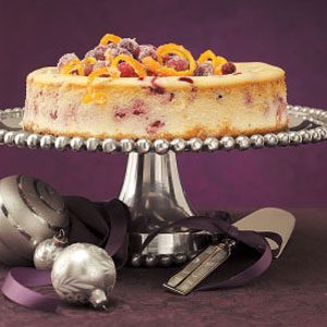 Citrus Cranberry Cheesecake Recipe