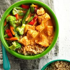 Thai Red Curry Chicken & Vegetables Recipe