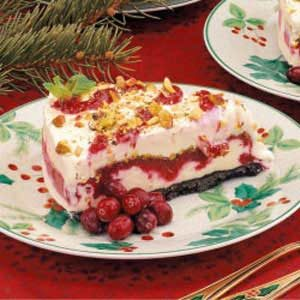 Cranberry Pistachio Ice Cream Cake