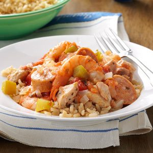 Meaty Slow-Cooked Jambalaya Recipe