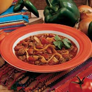 Chili with Tortilla Dumplings Recipe