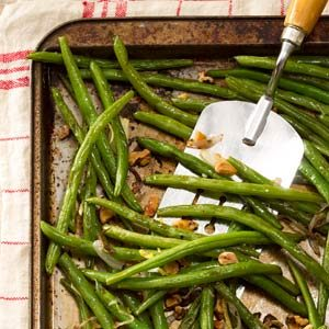 Roasted Green Beans with Lemon & Walnuts Recipe photo by Taste of Home