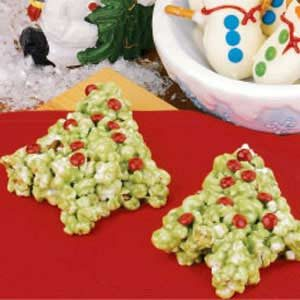 Popcorn Christmas Trees Recipe