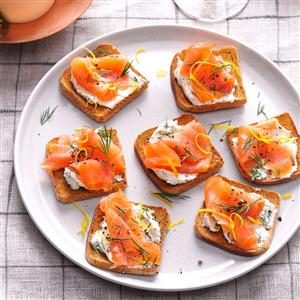Lemon-Herb Salmon Toasts Recipe