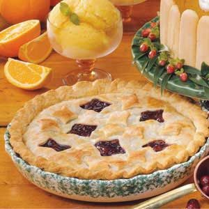 Flakey Cranberry Raisin Pie Recipe