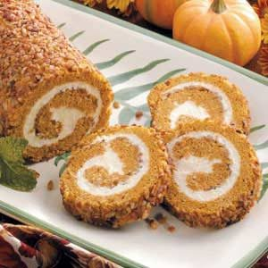 Pumpkin-Pecan Cake Roll Recipe