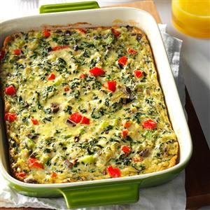Crab-Spinach Egg Casserole Recipe