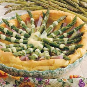 Asparagus Hollandaise Puff Recipe