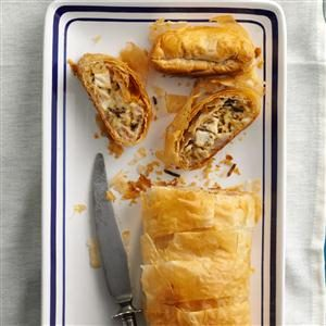 Chicken & Wild Rice Strudels Recipe