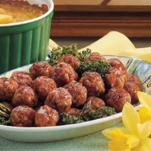 Brown Sugar Glazed Ham Balls Recipe