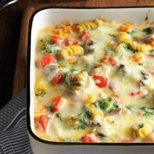 Fontina Chicken & Pasta Casserole