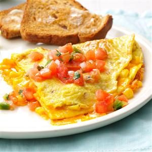 Fresh Corn Omelet Recipe