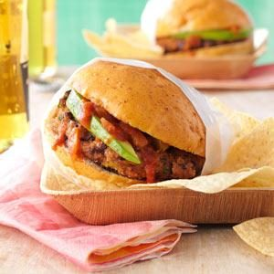 Salsa Bean Burgers Recipe