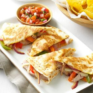 Pork Quesadillas with Fresh Salsa Recipe