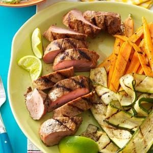 Grilled Pork Tenderloin & Veggies Recipe