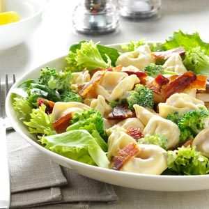 Lemony Tortellini Bacon Salad Recipe