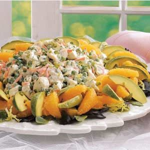 Orange-Avocado Chicken Salad