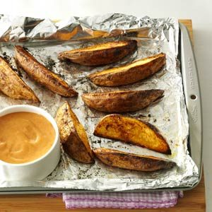 Potato Wedges with Sweet & Spicy Sauce Recipe