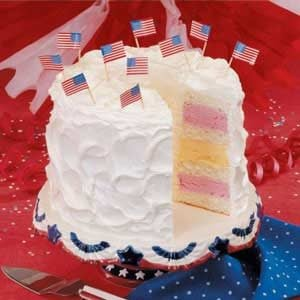 Fourth of July Ice Cream Cake Recipe