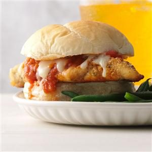 Weeknight Chicken Parmesan Sandwiches