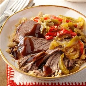 Slow Cooker Pepper Steak Recipe
