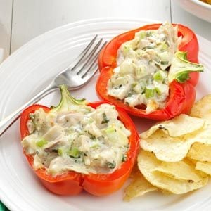 Chicken Salad-Stuffed Peppers