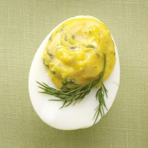 Slim Deviled Eggs with Herbs Recipe