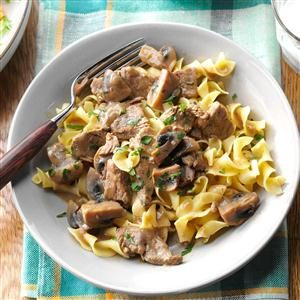 Beef Burgundy Over Noodles Recipe