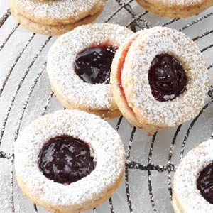 Cardamom-Blackberry Linzer Cookies Recipe