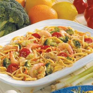 Shrimp Linguine Salad Recipe