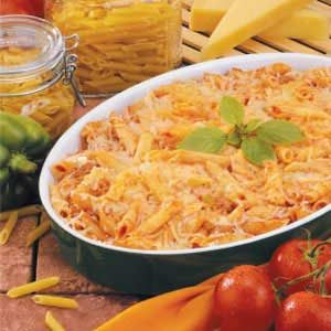 Penne Sausage Bake Recipe
